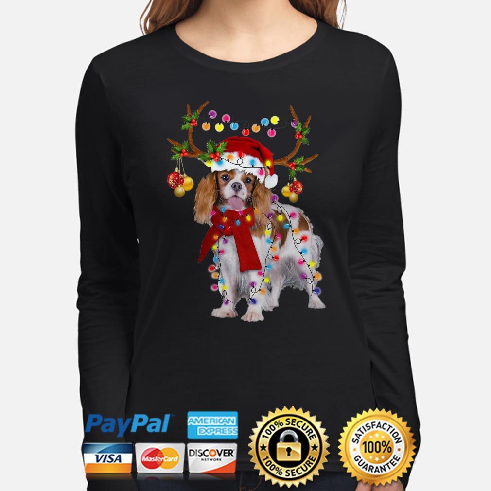 Cavalier King gorgeous reindeer Christmas long sleeve
