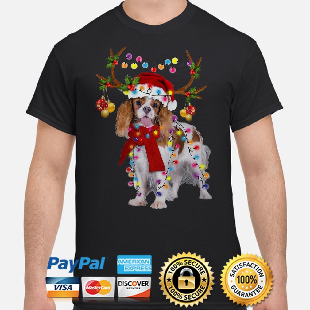 Cavalier King gorgeous reindeer Christmas t-shirt