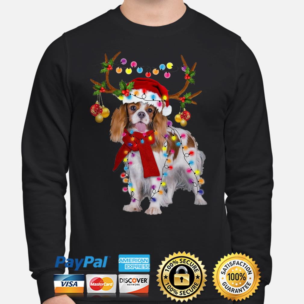 Cavalier King gorgeous reindeer Christmas sweater