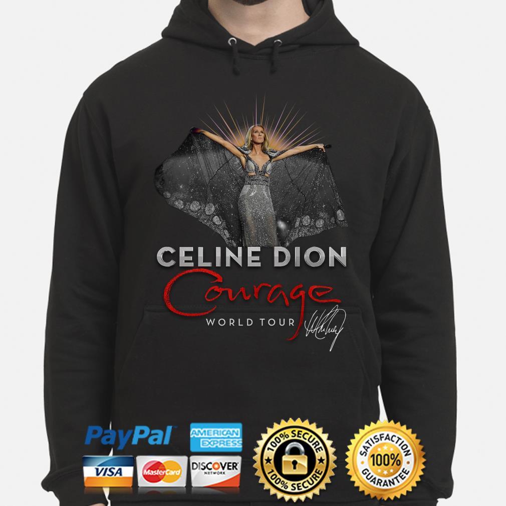 Celine Dion Courage World Tour signature Hoodie