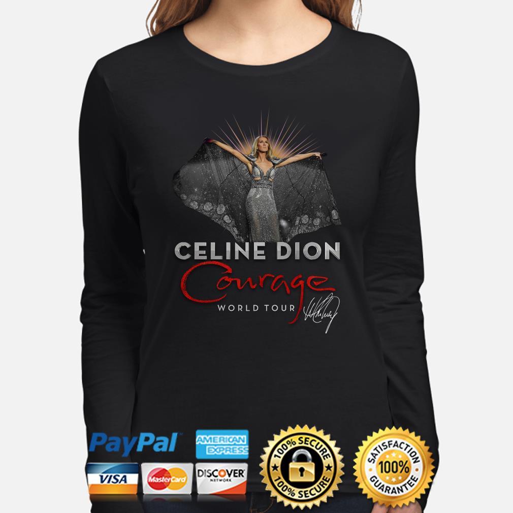 Celine Dion Courage World Tour signature Long sleeve