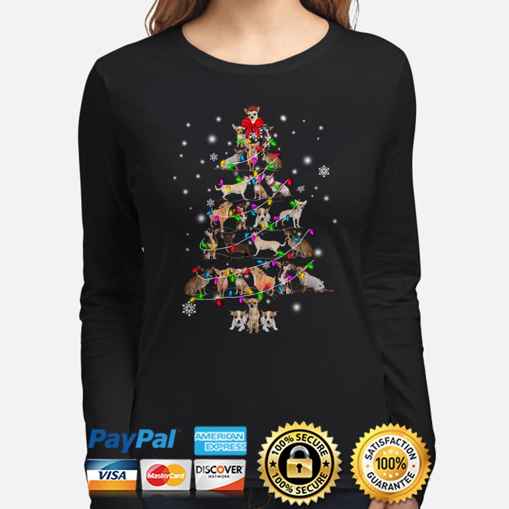 Chihuahua Christmas tree Xmas long sleeve