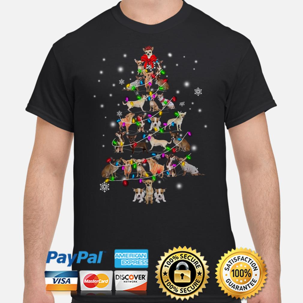 Chihuahua Christmas tree Xmas t-shirt