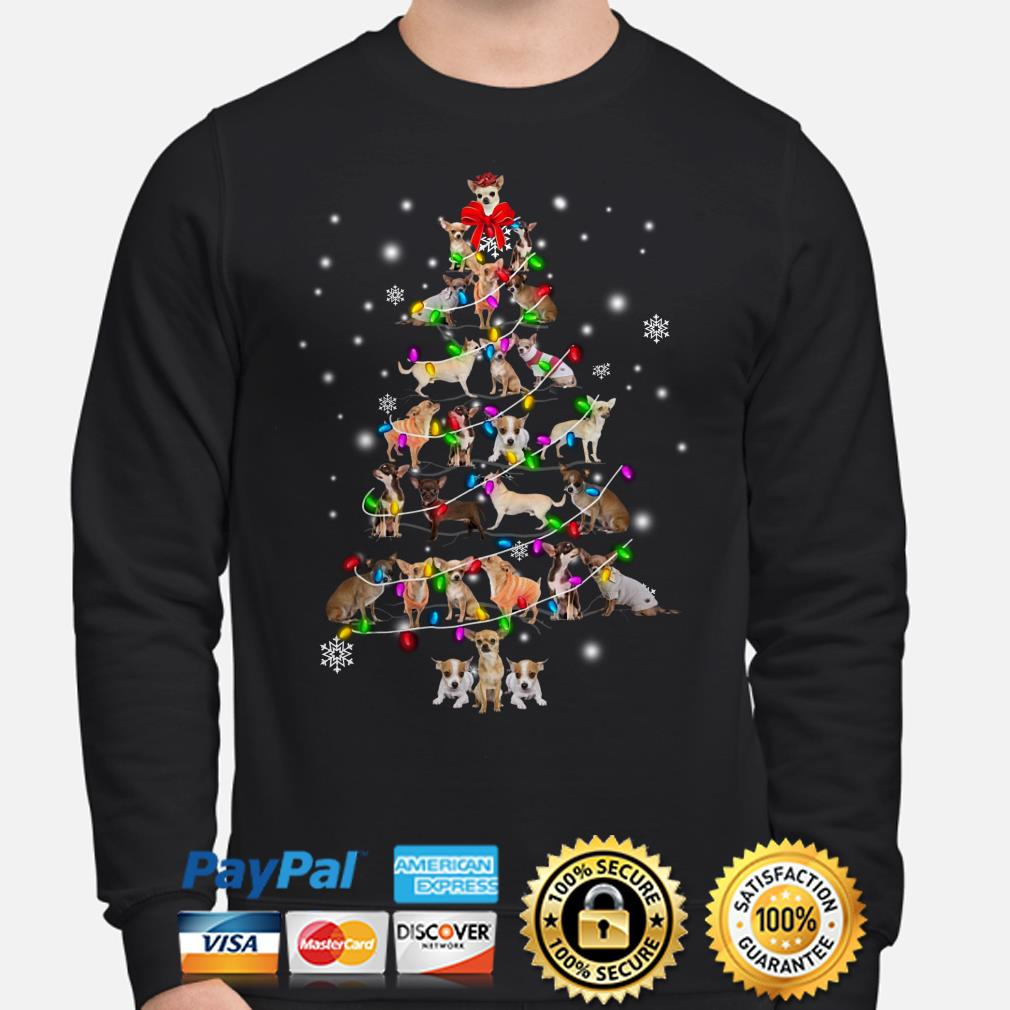 Chihuahua Christmas tree Xmas sweater