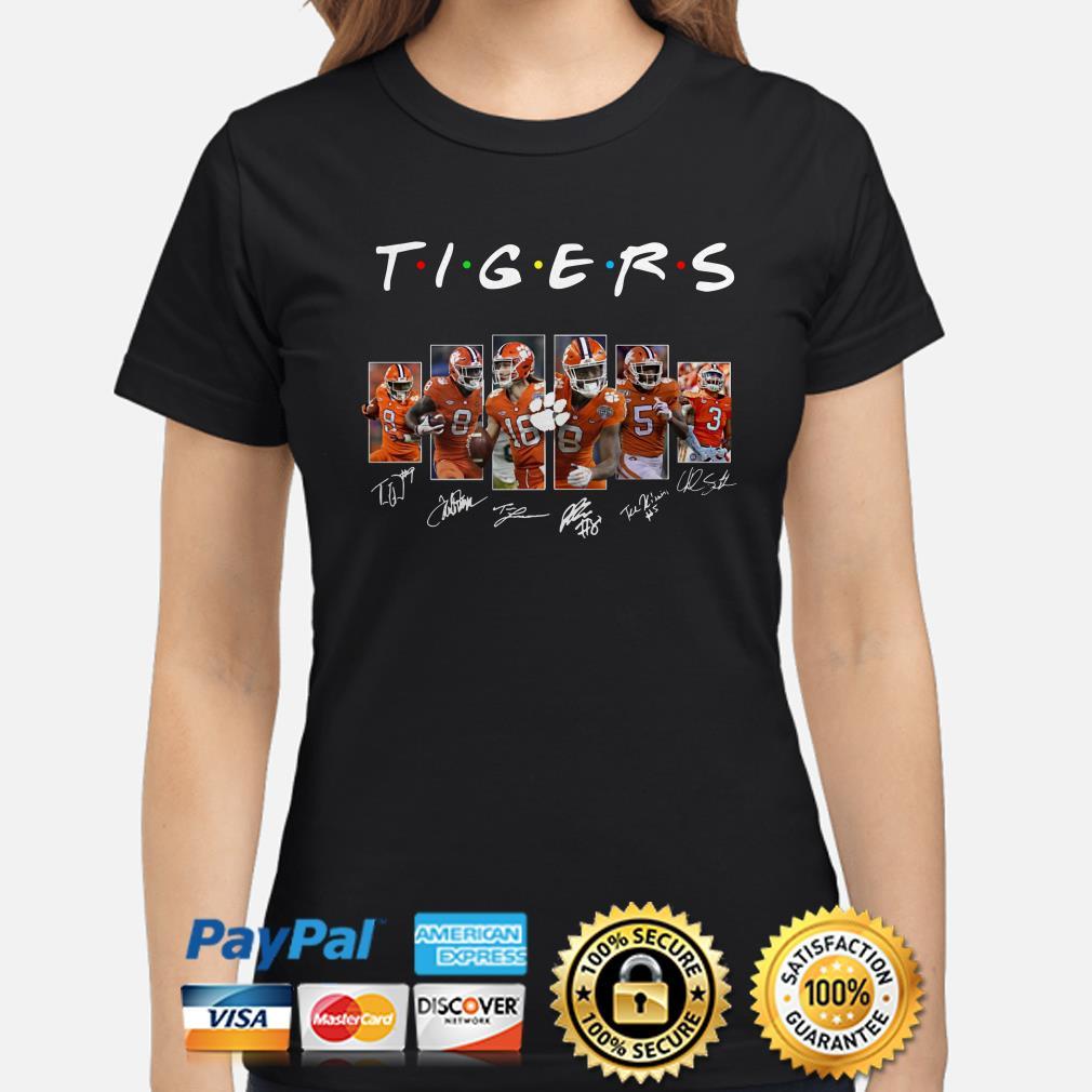Clemson Tigers Players signature Friends ladies shirt