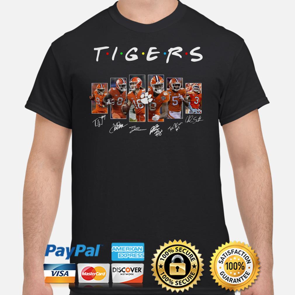 Clemson Tigers Players signature Friends shirt