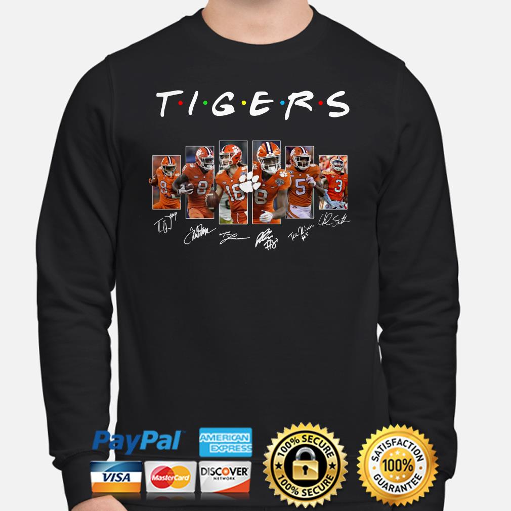 Clemson Tigers Players signature Friends sweater