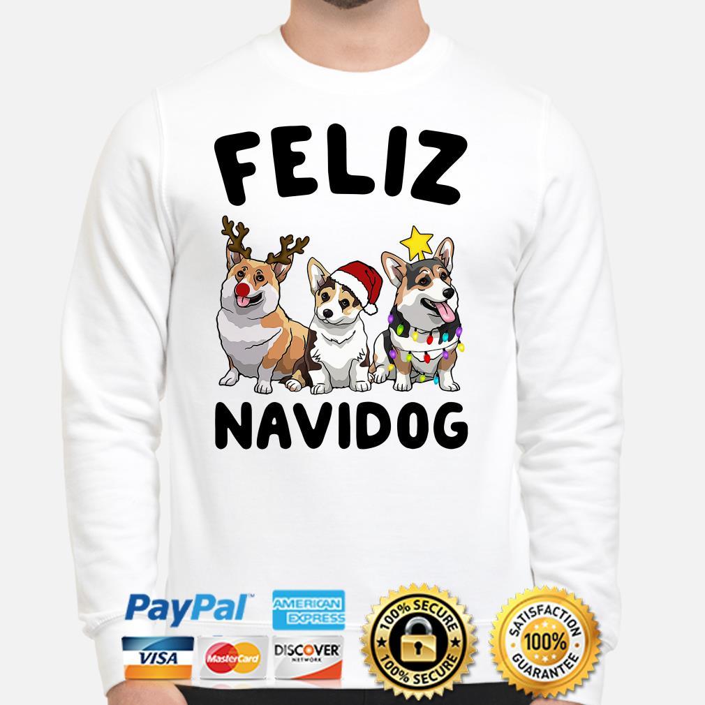Corgi Feliz Navidog Christmas sweater