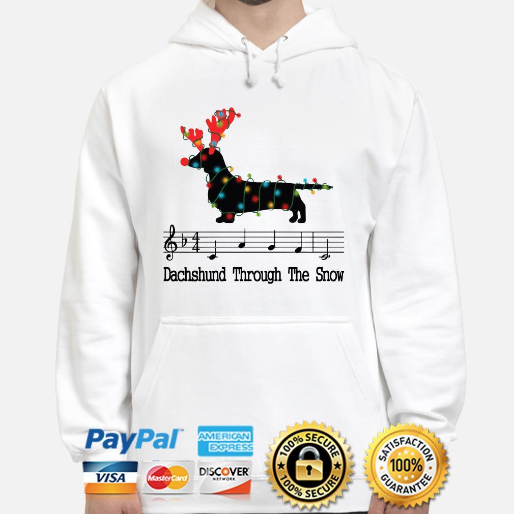 Dachshund through the snow music Christmas hoodie