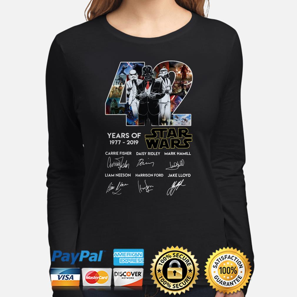 Darth Vader and Stormtrooper veston 42 years of Star Wars signature Long sleeve