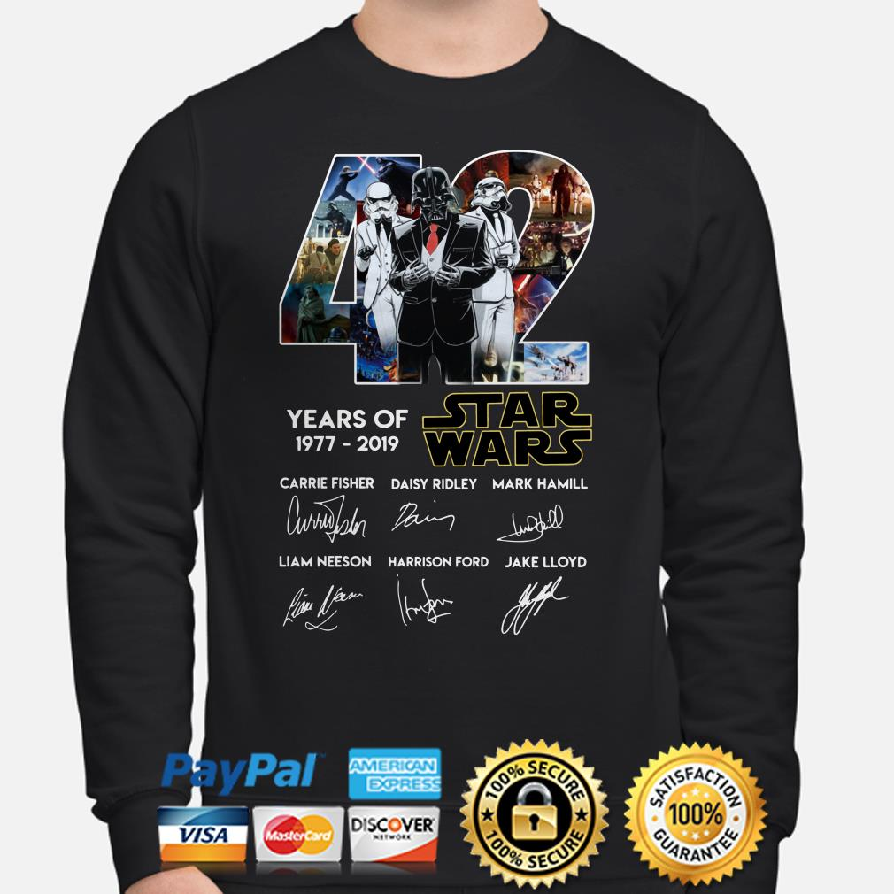 Darth Vader and Stormtrooper veston 42 years of Star Wars signature Sweater