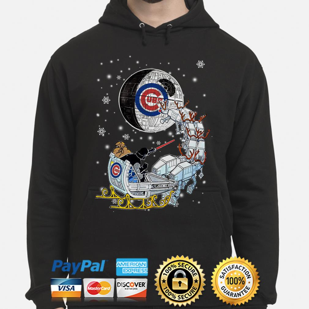 Darth Vader Chicago cubs riding sleigh to the Death Star hoodie