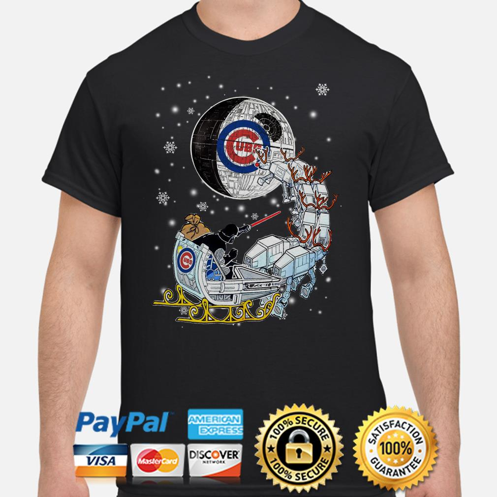 Darth Vader Chicago cubs riding sleigh to the Death Star shirt