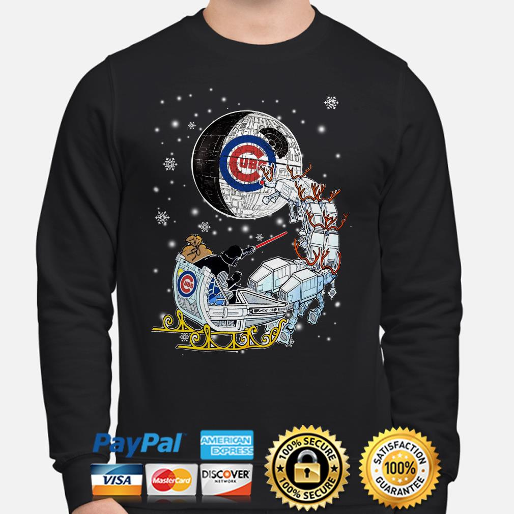 Darth Vader Chicago cubs riding sleigh to the Death Star sweater