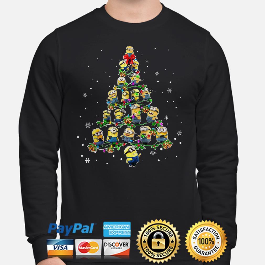 Despicable me Minions Christmas tree sweatshirt