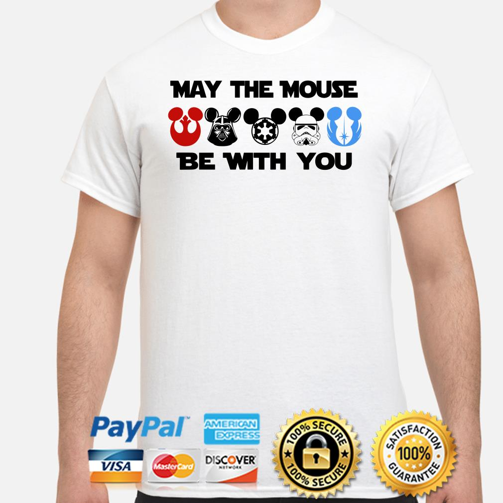 Disney Star Wars Characters Mickey may the mouse be with you shirt