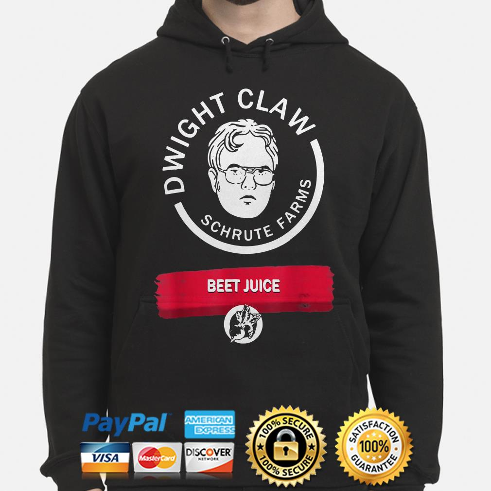 Dwight Claw Schrute Farms Beet Juice hoodie