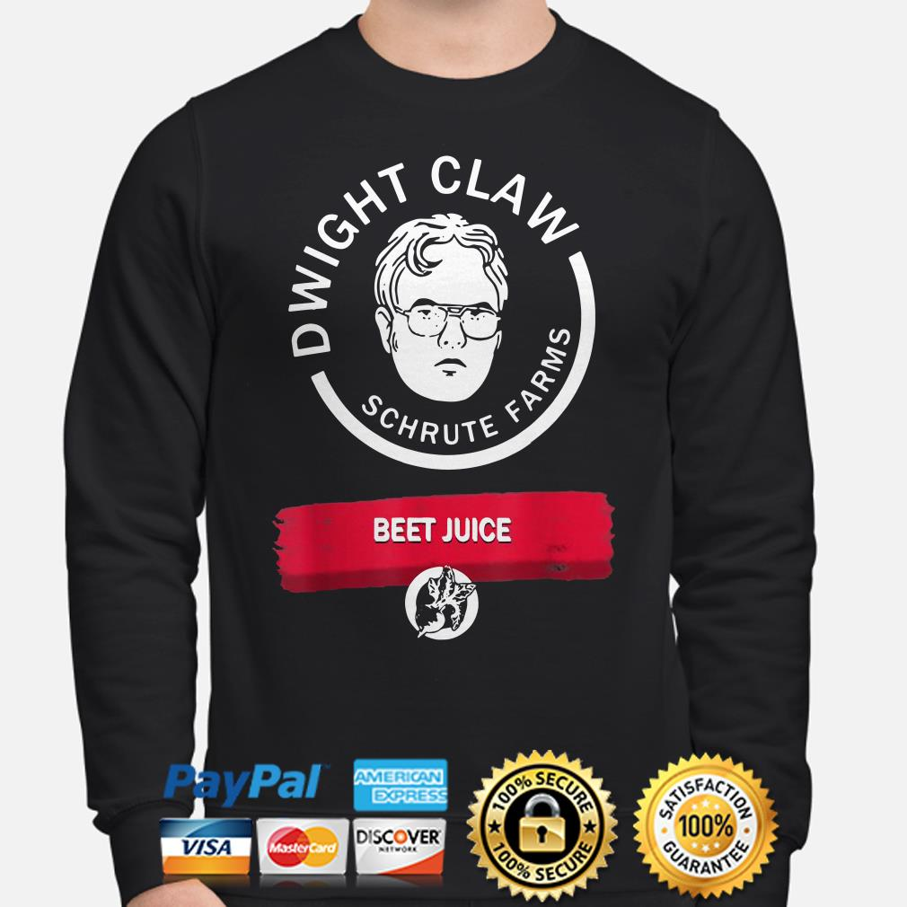 Dwight Claw Schrute Farms Beet Juice sweater