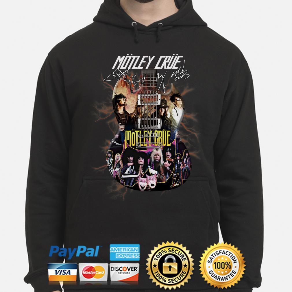 Electric Guitar Motley Crue signature hoodie