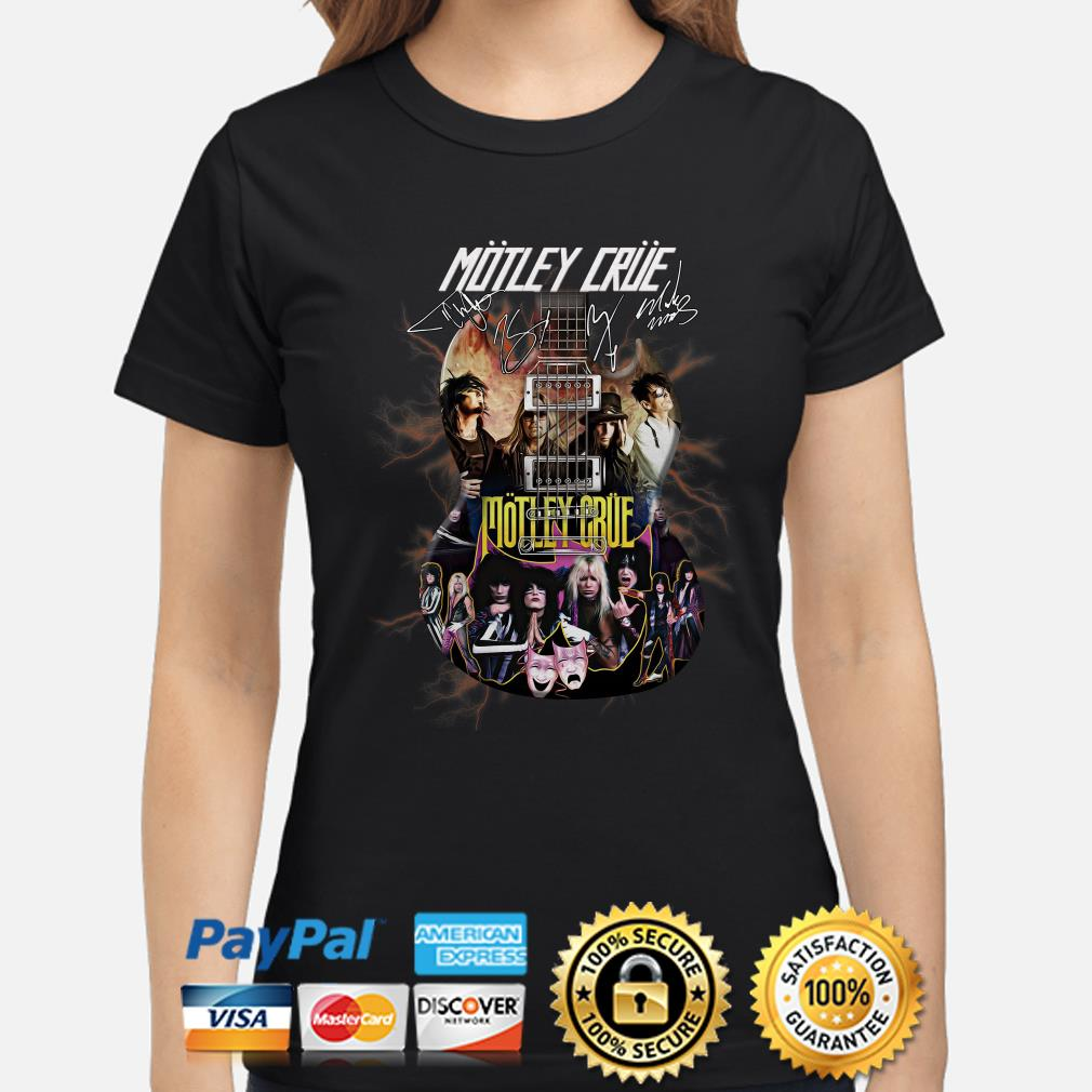 Electric Guitar Motley Crue signature ladies shirt