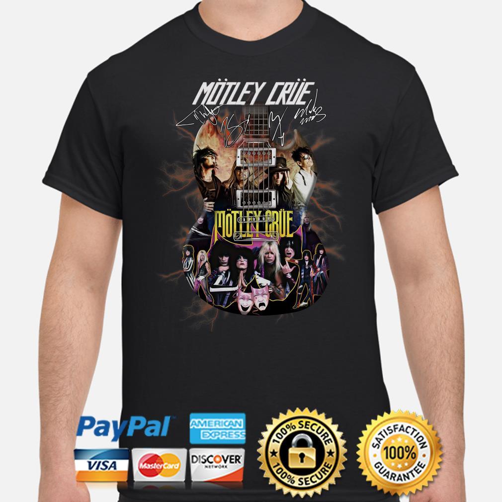 Electric Guitar Motley Crue signature shirt