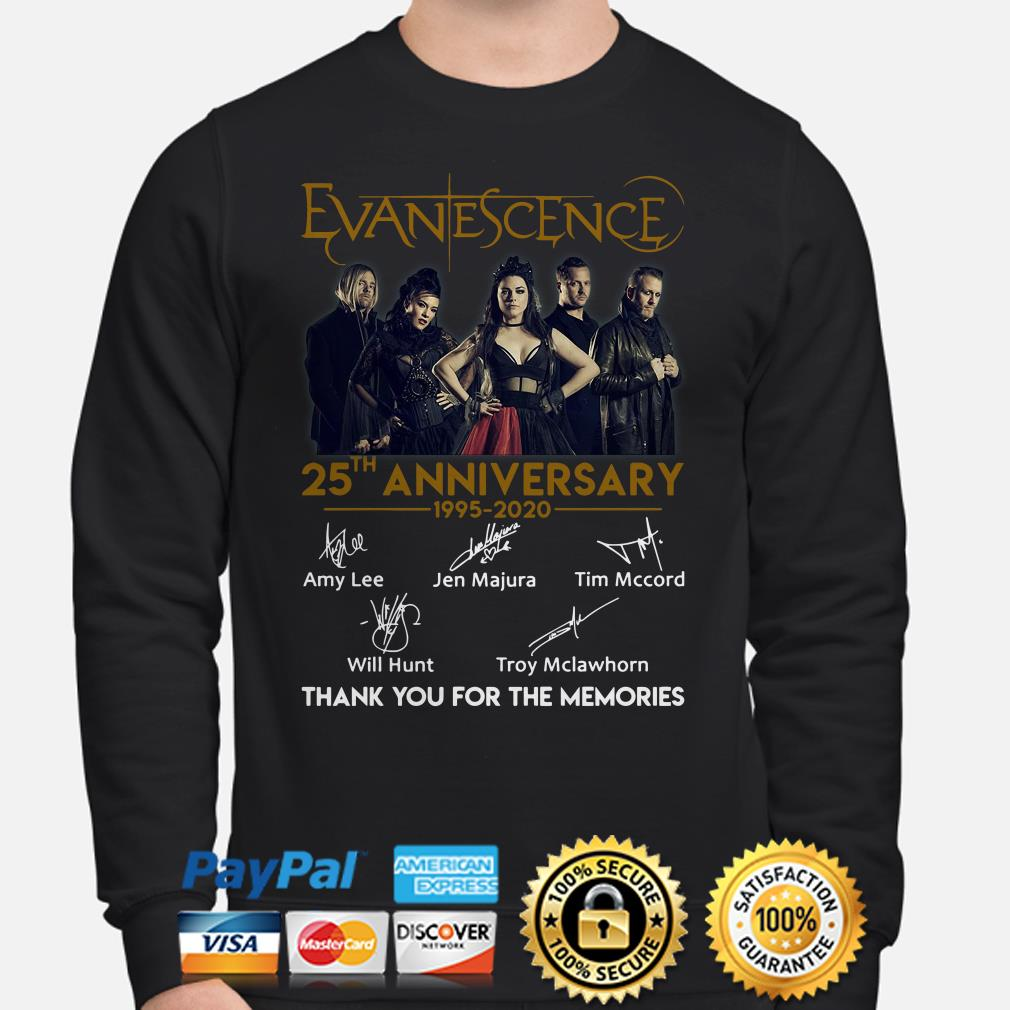 Evanescence 25th Anniversay thank you for the memories signature Hoodie
