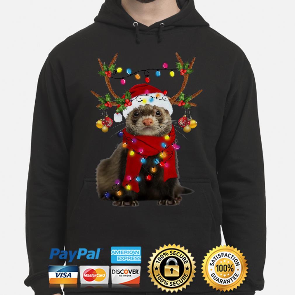 Ferret gorgeous reindeer Christmas hoodie