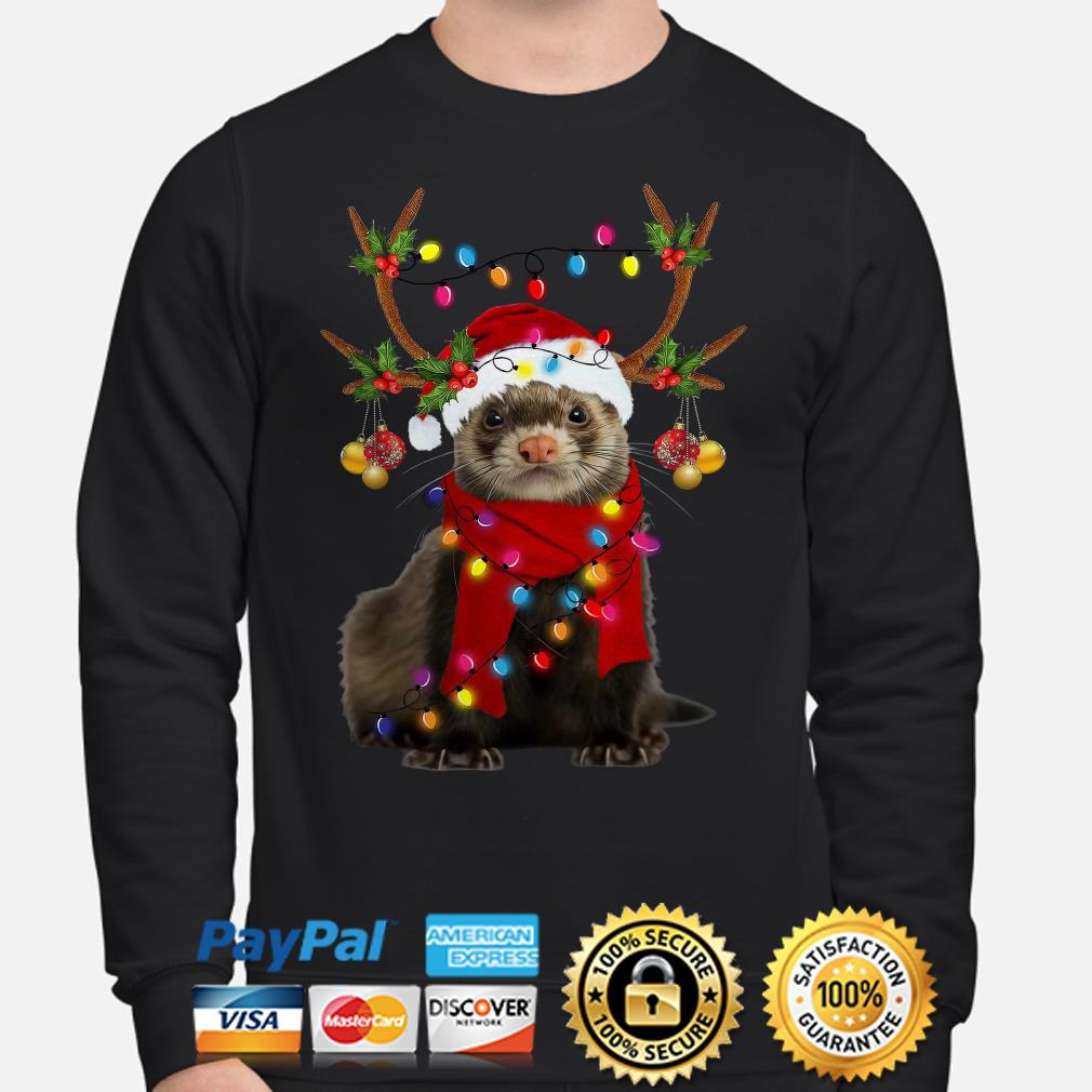 Ferret gorgeous reindeer Christmas sweater