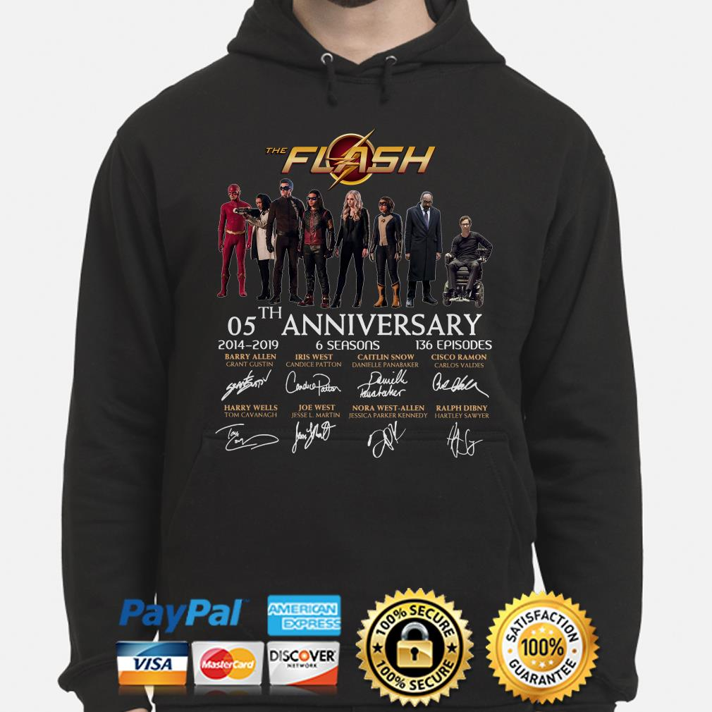 The Flash 05th anniversary characters signature hoodie