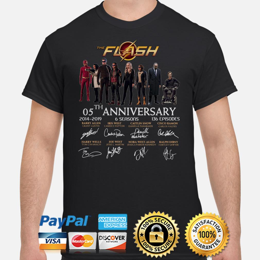 The Flash 05th anniversary characters signature shirt