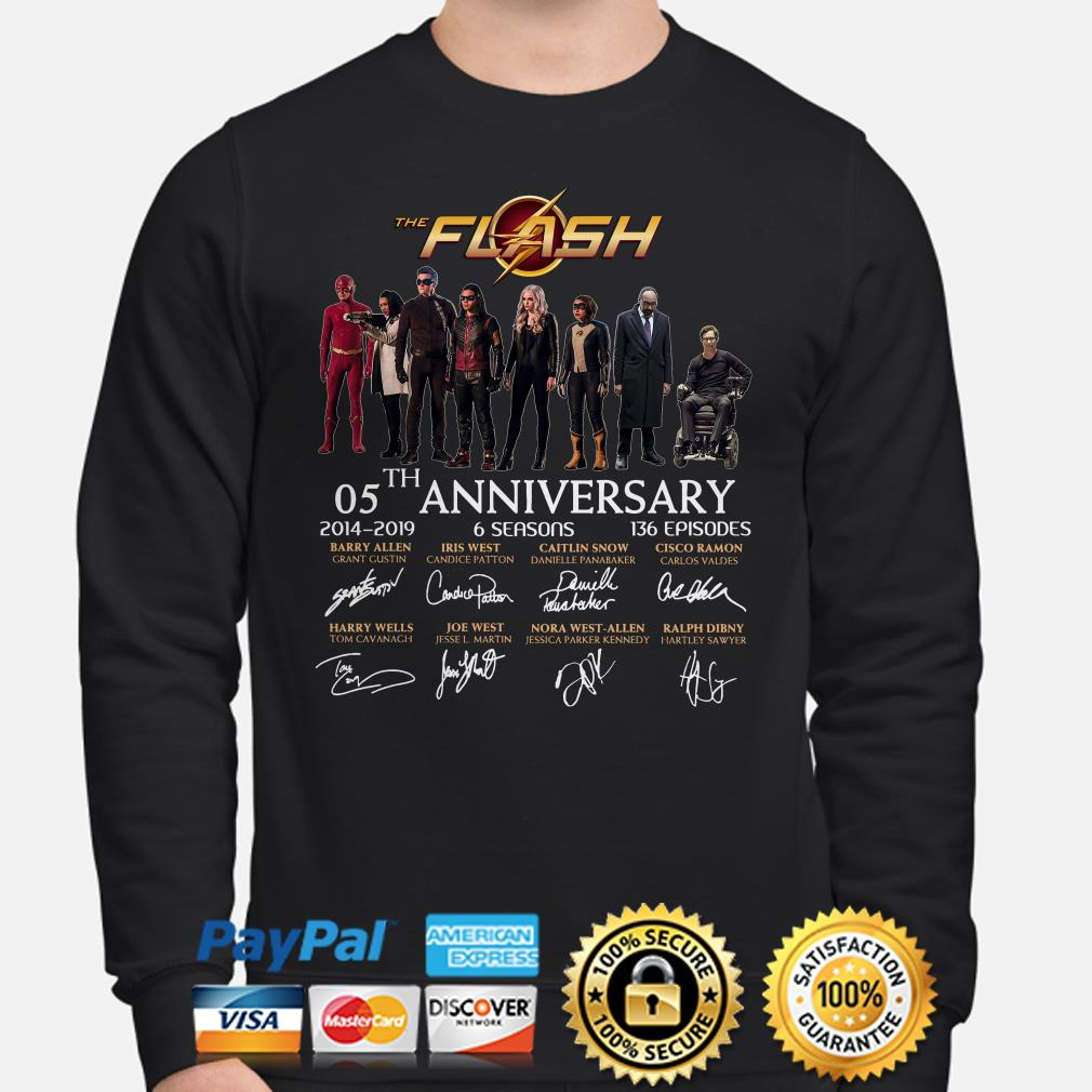 The Flash 05th anniversary characters signature sweater