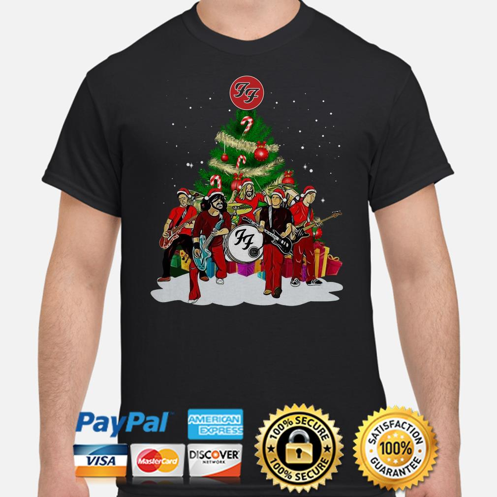 Foo Fighters Rock Band Christmas T-shirt