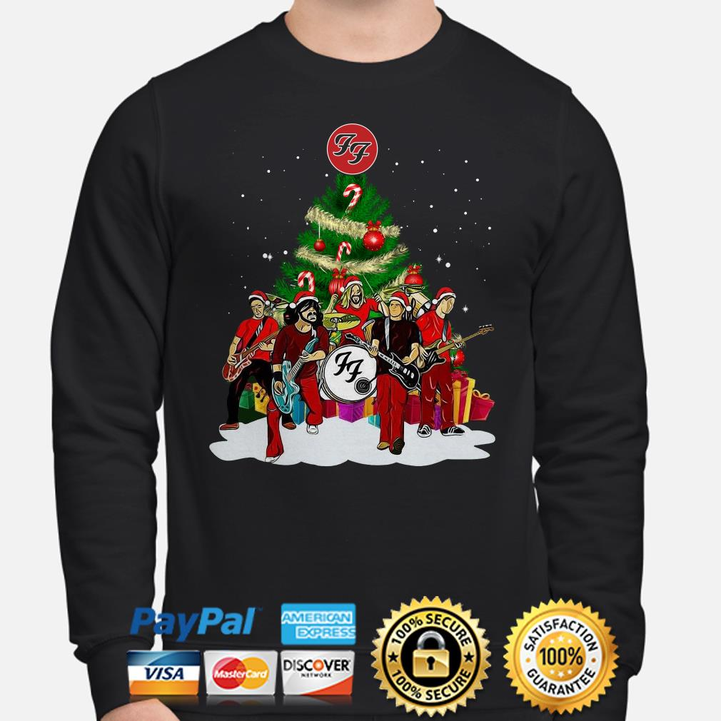 Foo Fighters Rock Band Christmas tree sweatshirt