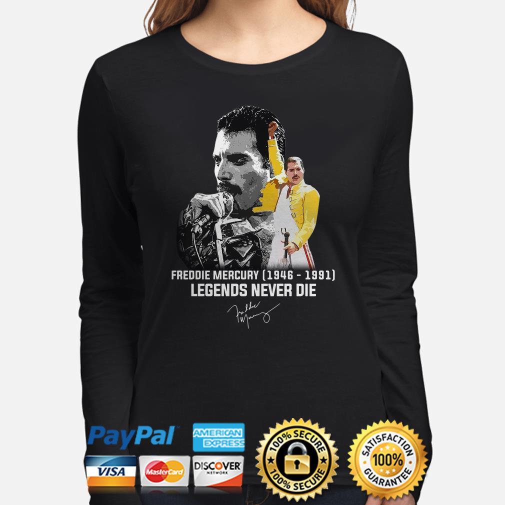 Freddie Mercury 1849 1891 Legends Never die signature long sleeve