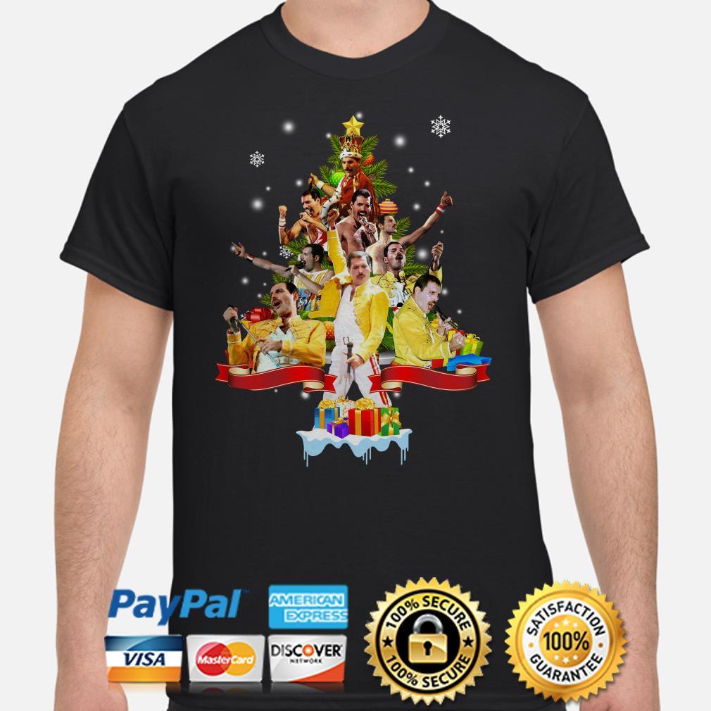 Freddie Mercury Queen Christmas tree shirt