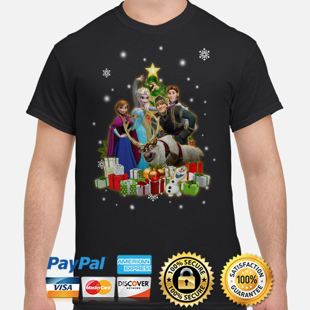 Frozen characters Christmas tree shirt