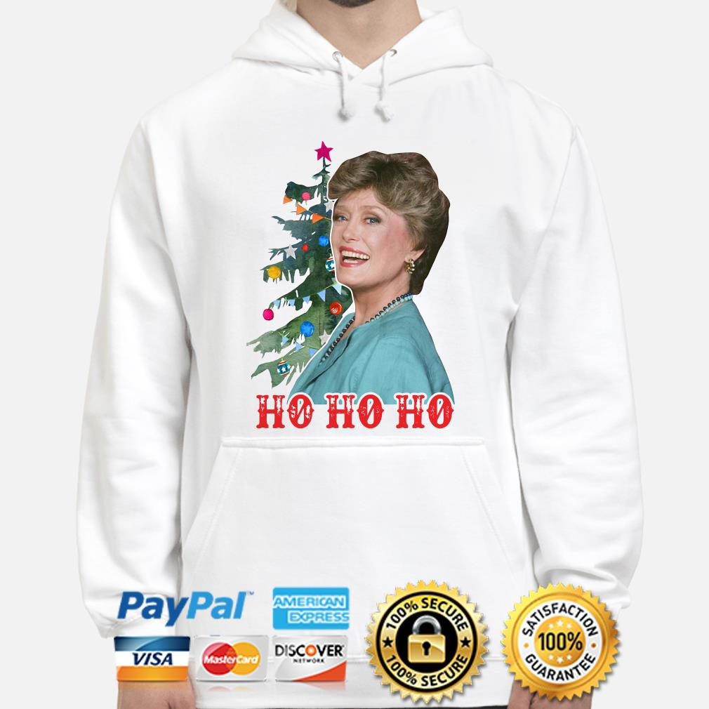 Golden Girl Blanche Devereaux Ho Ho Ho Christmas hoodie