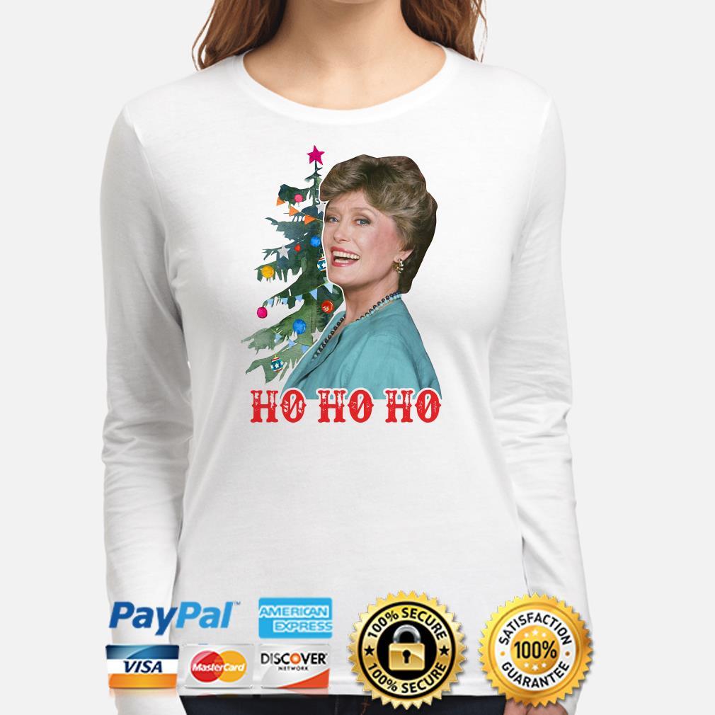 Golden Girl Blanche Devereaux Ho Ho Ho Christmas long sleeve