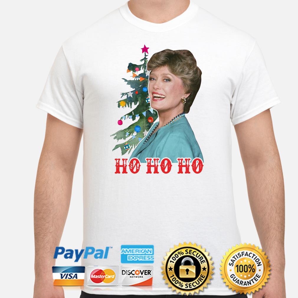 Golden Girl Blanche Devereaux Ho Ho Ho Christmas T-shirt