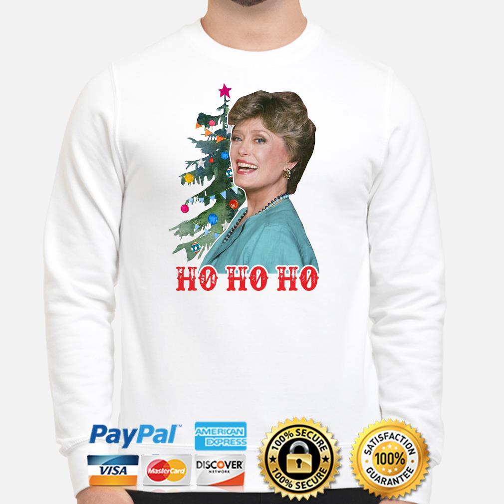 Golden Girl Blanche Devereaux Ho Ho Ho Christmas sweater