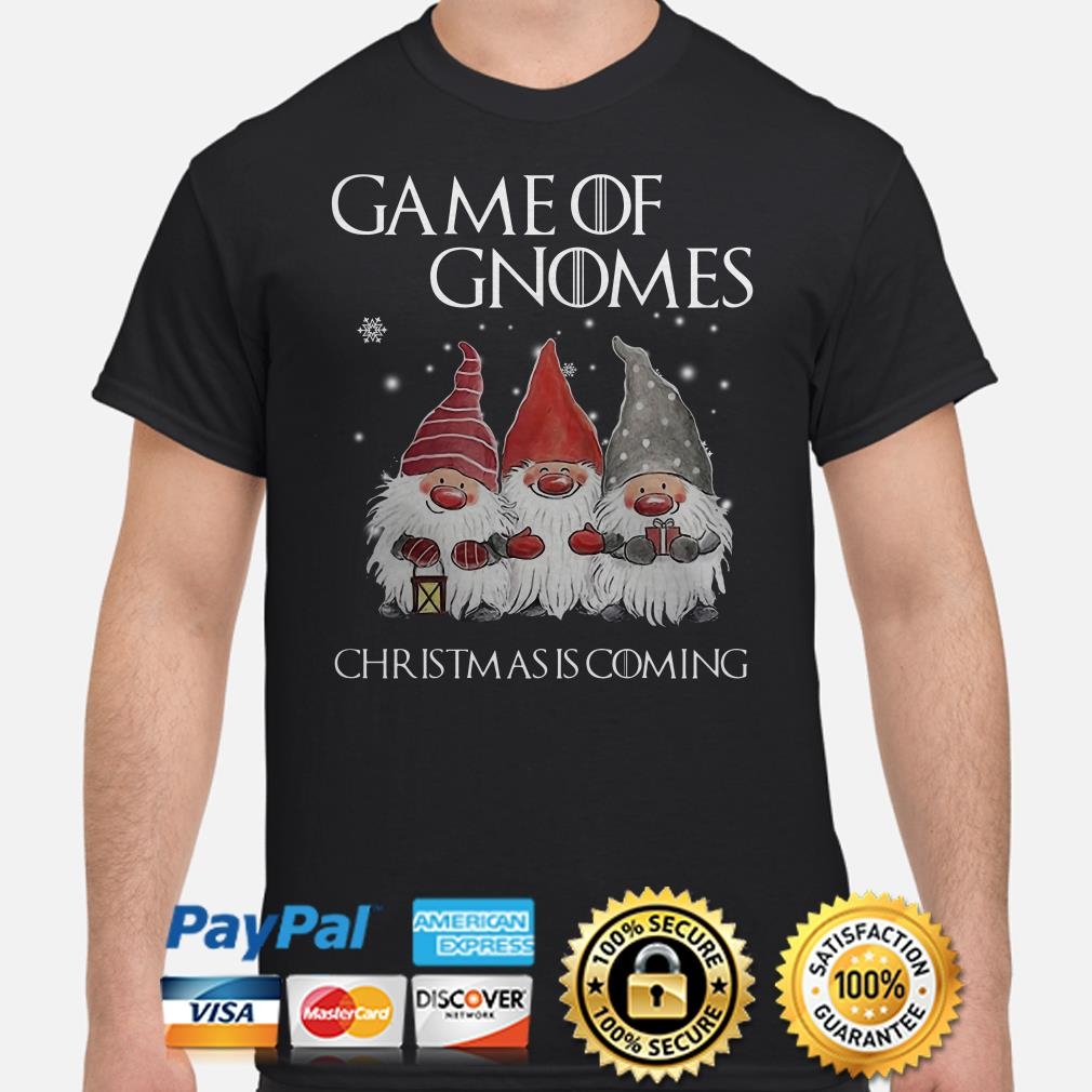 GOT Game of Gnomes Christmas is coming T-shirt