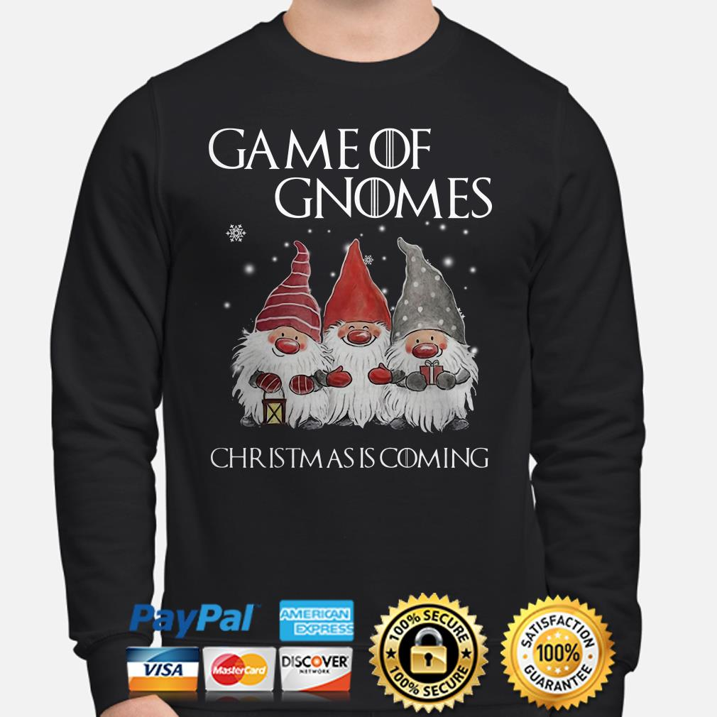 GOT Game of Gnomes Christmas is coming sweater