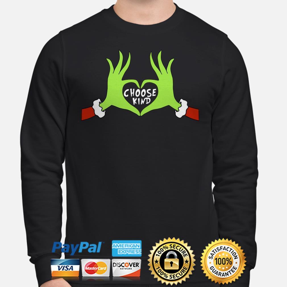 Grinch choose kind Christmas sweater
