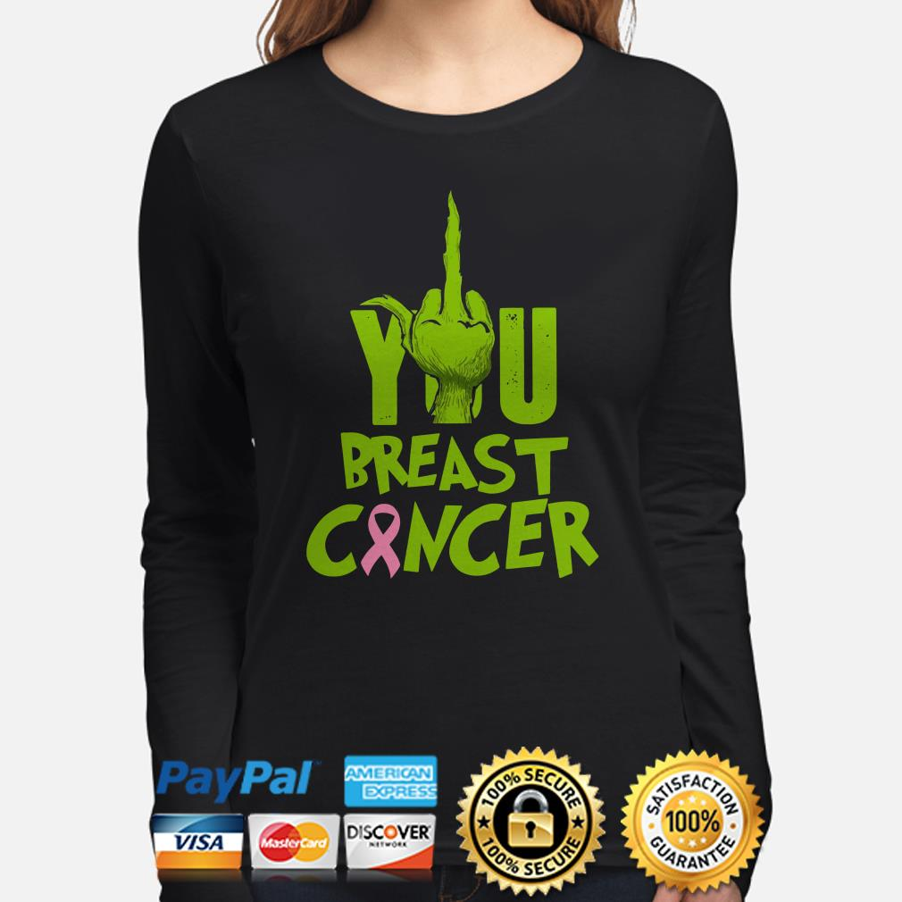 Grinch fuck you breast cancer Christmas long sleeve