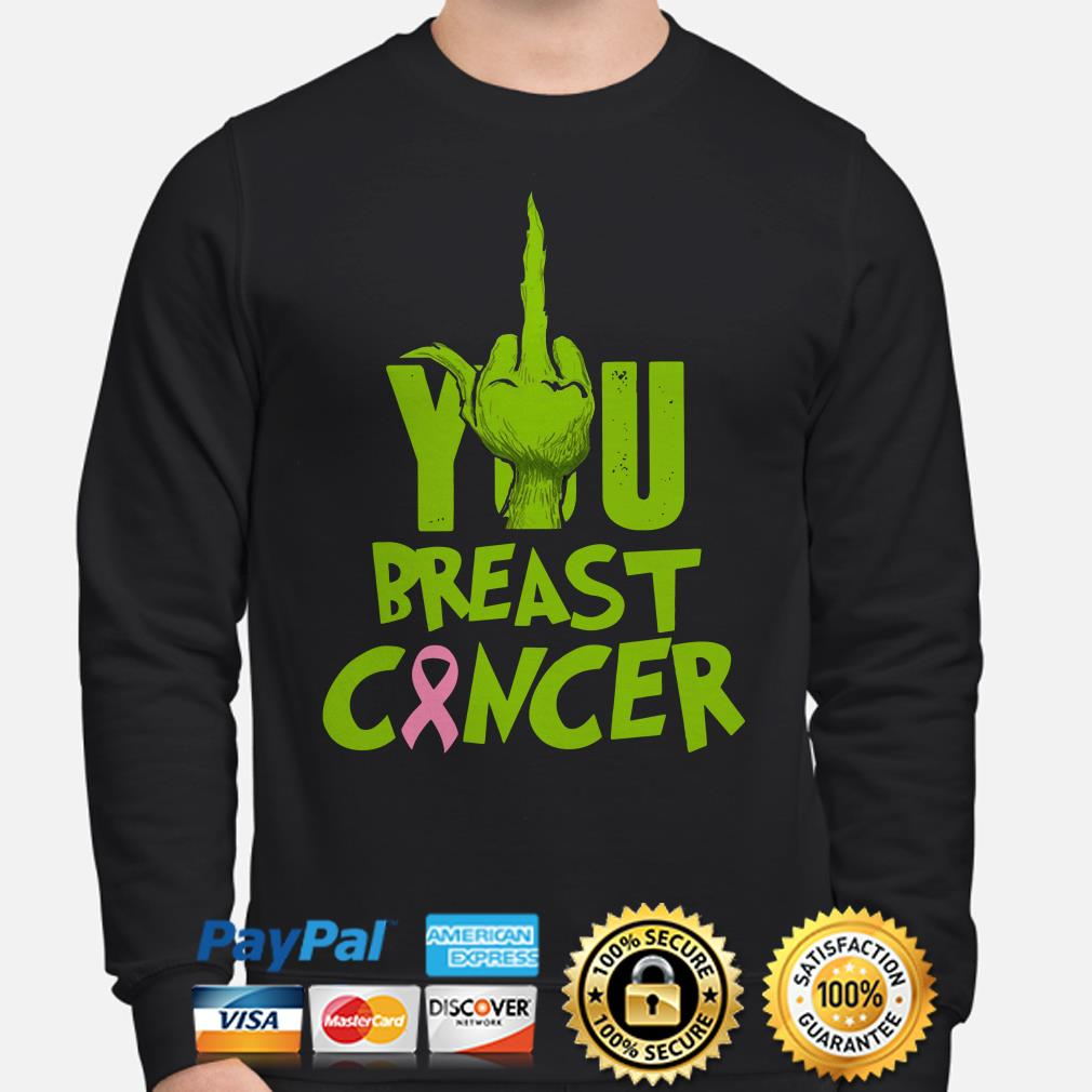 Grinch fuck you breast cancer Christmas sweatshirt