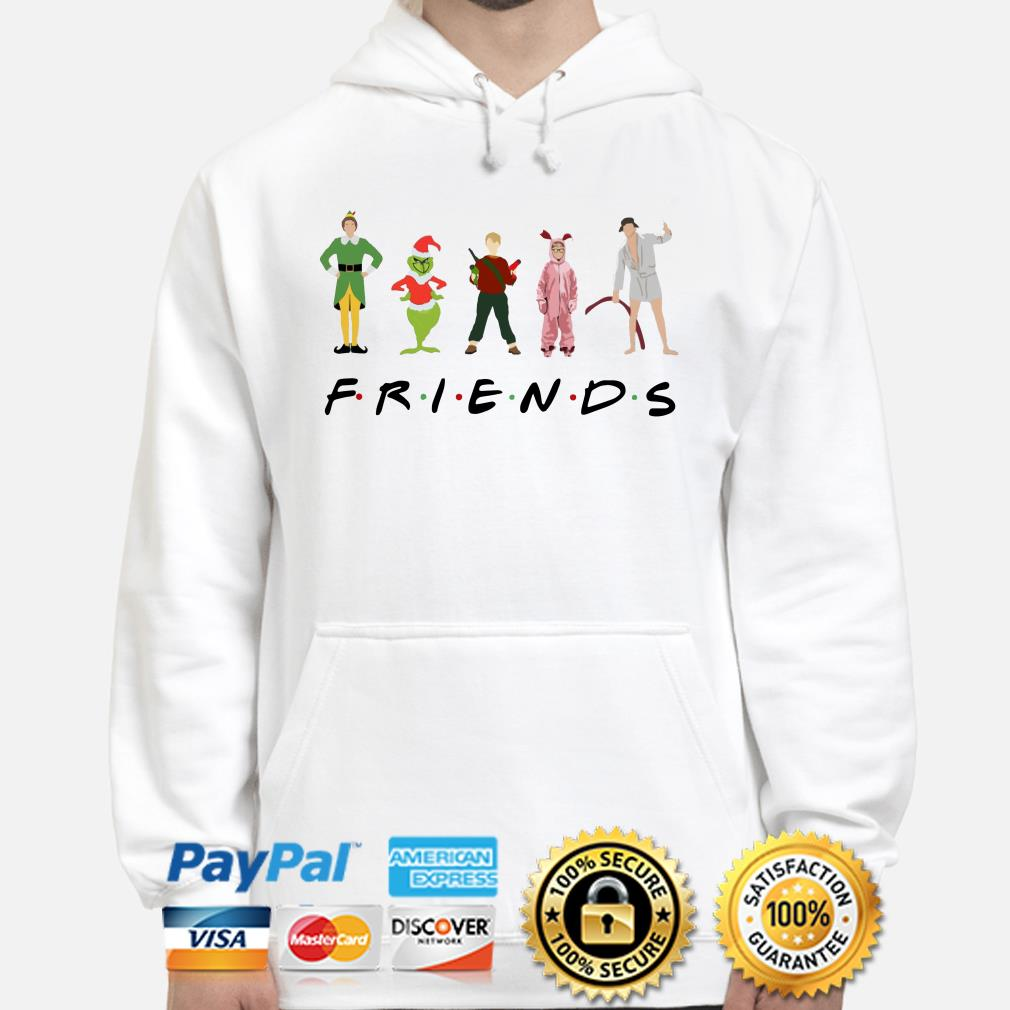 Grinch, Kevin and Elf Character Friends TV show Christmas hoodie