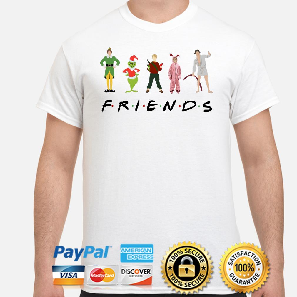 Grinch, Kevin and Elf Character Friends TV show Christmas T-shirt