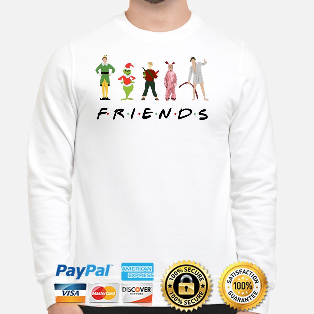 Grinch, Kevin and Elf Character Friends TV show Christmas sweater