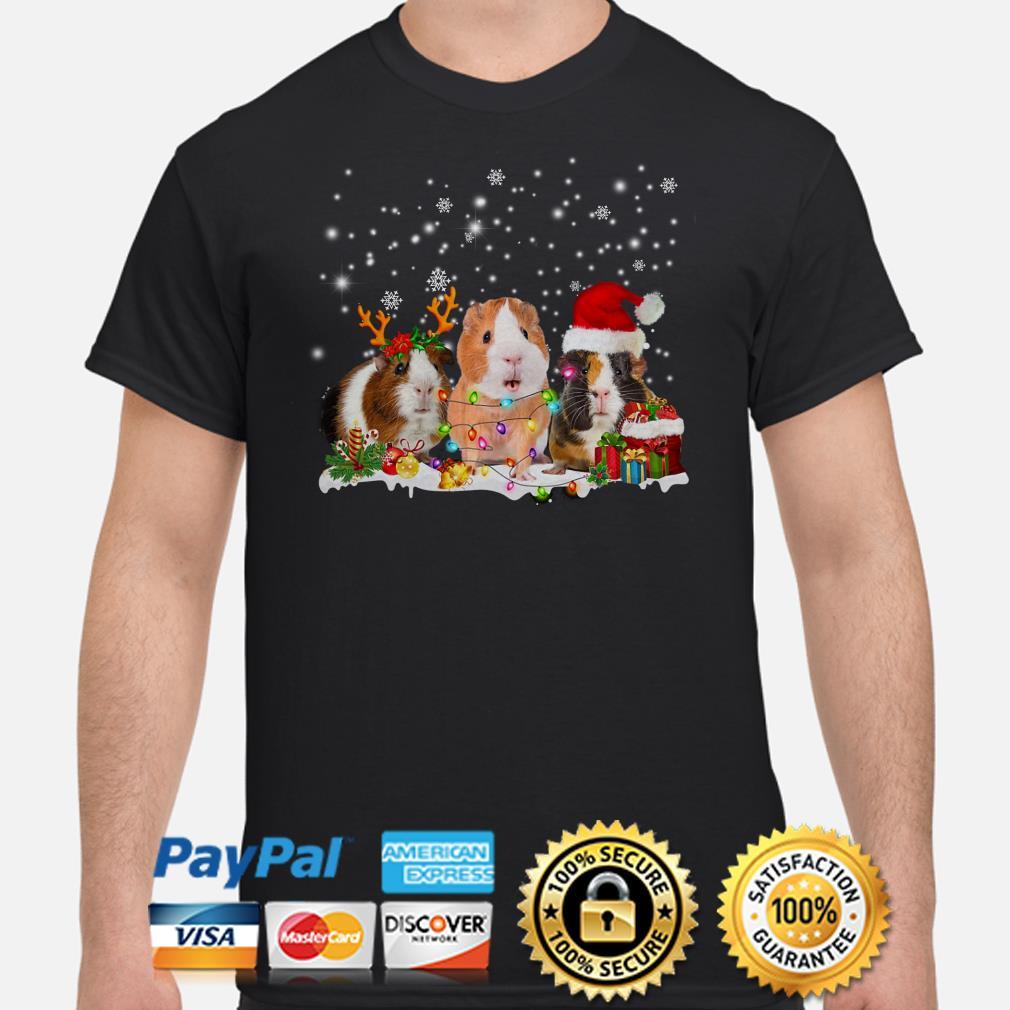 Guinea Pig Christmas lights gift shirt