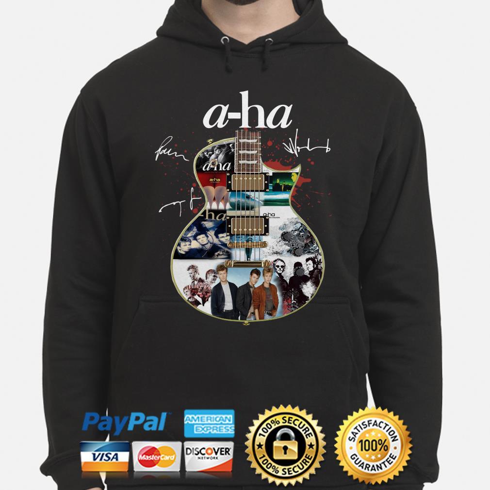 Guitar A-Ha signature hoodie